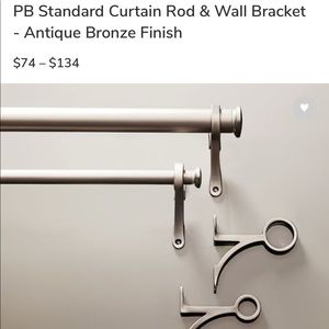 Pottery Barn Curtain Rod and Wall Mounts